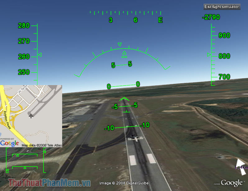 Flight Simulator (Google Earth)