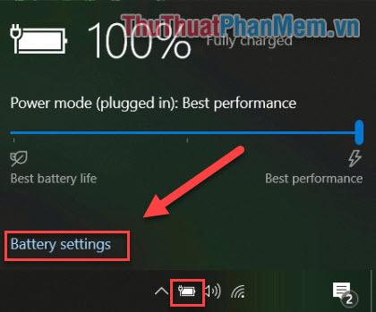 Chọn Battery Settings
