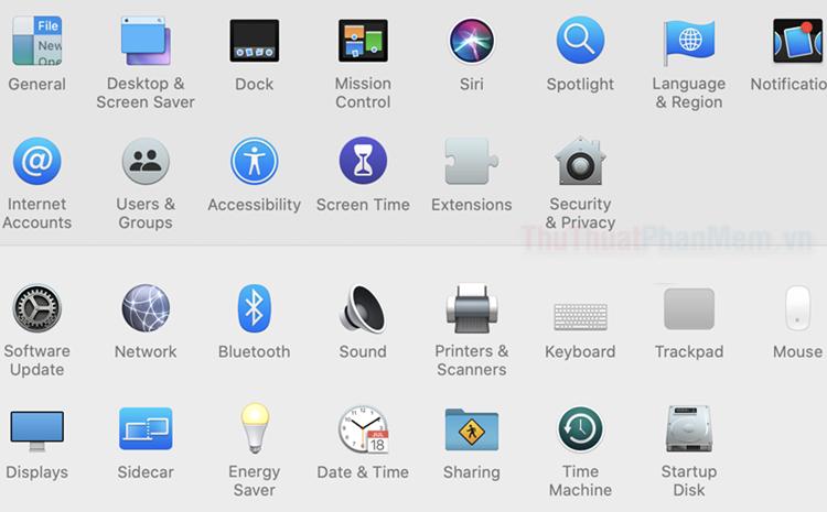 Giới thiệu về System Preferences trên MacOS