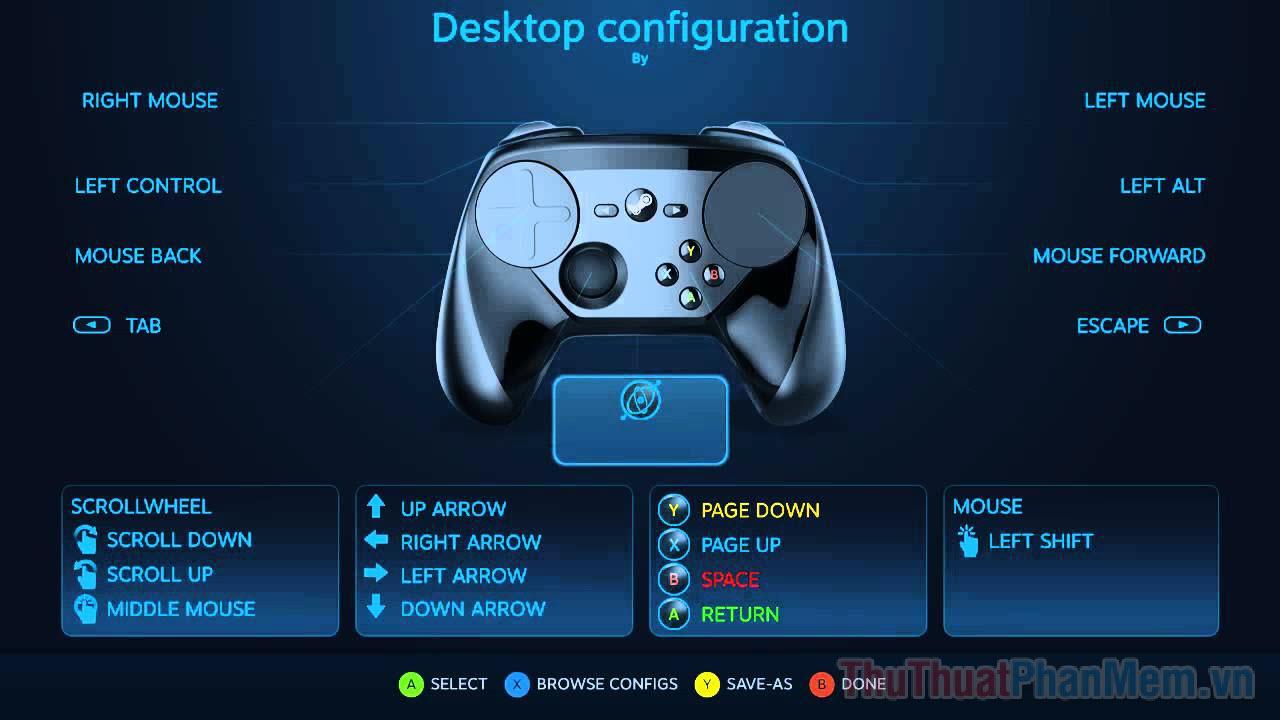 """Nhấn vào nút """"Controller Configuration"""" để bắt đầu tùy chỉnh bố cục tay cầm theo ý muốn của mình"""