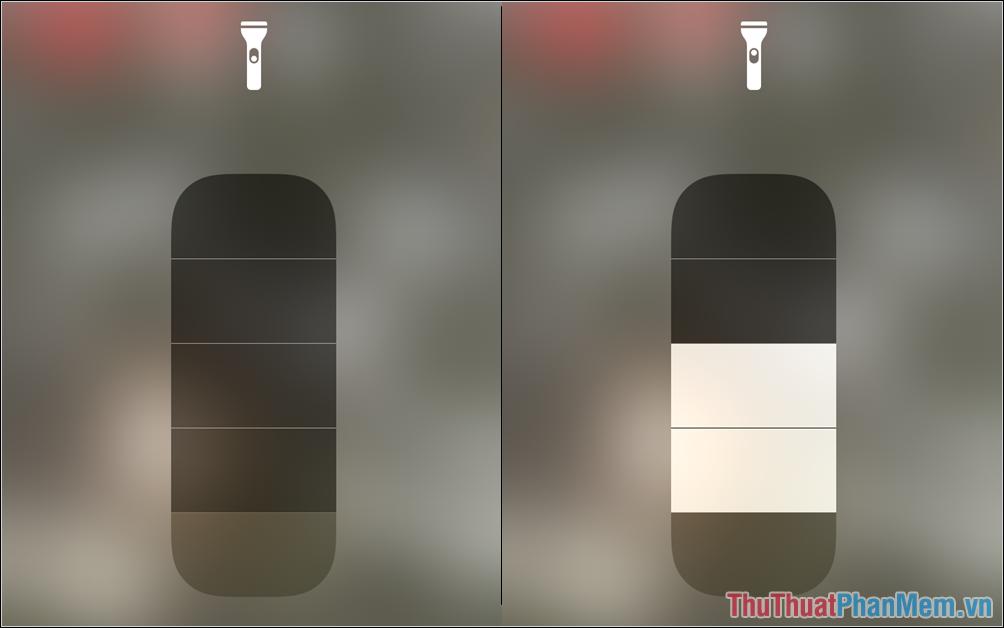 Đèn pin trên iPhone, iPad hiện nay hỗ trợ tối đa 05 nấc đèn