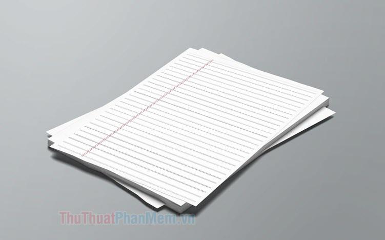 Mẫu giấy A4 có dòng kẻ ngang đẹp
