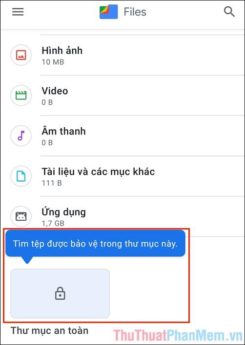 Cách ẩn file trên điện thoại Android bằng phần mềm của Google