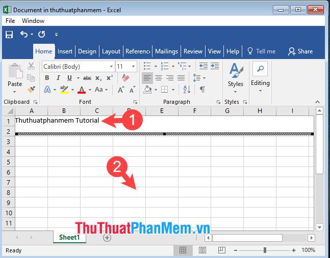 Cách chèn file, đính kèm file vào Excel