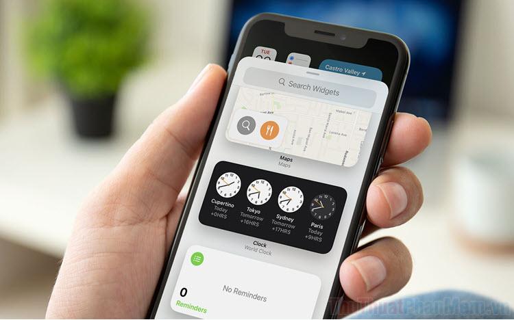 Cách thêm Widget đồng hồ thế giới, múi giờ vào điện thoại iPhone, iPad