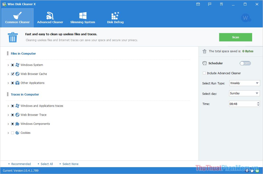 Truy cập trang chủ của Wise Disk Cleaner để tải và cài đặt phần mềm trên máy tính