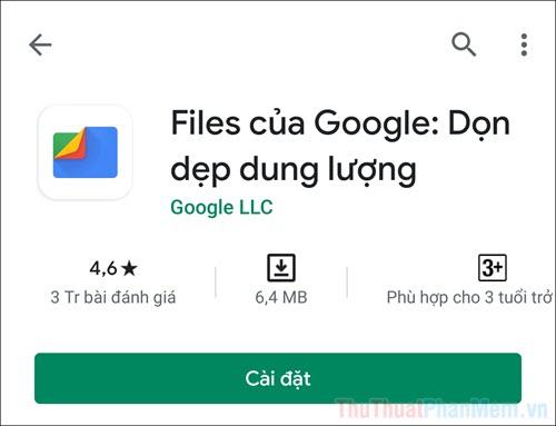 Nhấn vào Cài đặt để tải ứng dụng về điện thoại