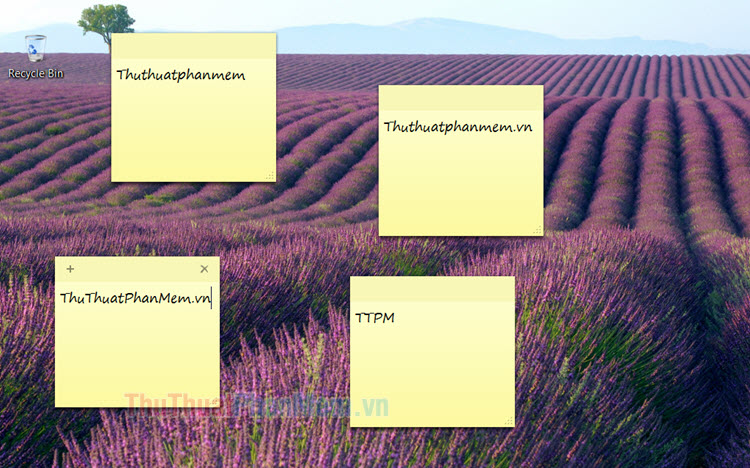 Cách tạo Sticky Note (ghi chú) trên màn hình Desktop Win 7