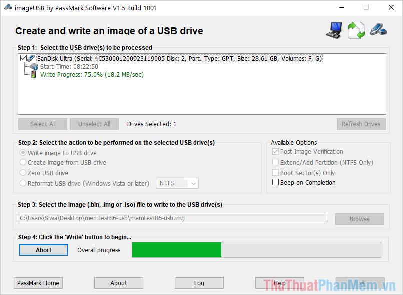 Quá trình tạo Boot trên USB sẽ mất khoảng từ 3-5 phút
