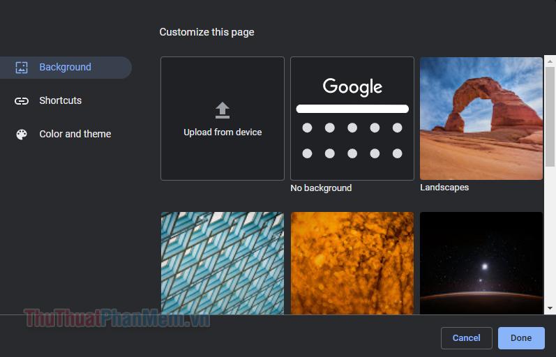 Bạn có thể tải lên bất kỳ hình ảnh nào bạn muốn