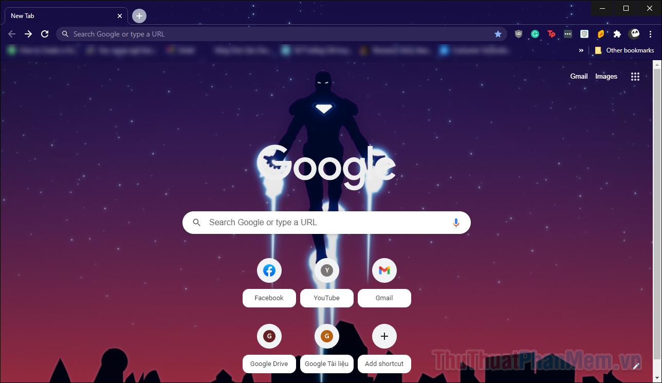 Chỉ mất một vài giây để chủ đề của bạn trong Chrome thay đổi