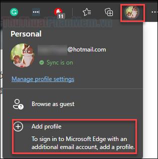 Chọn Add profile