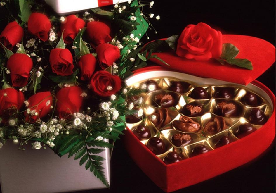Hình ảnh Socola, hoa hồng đẹp cho Valentine