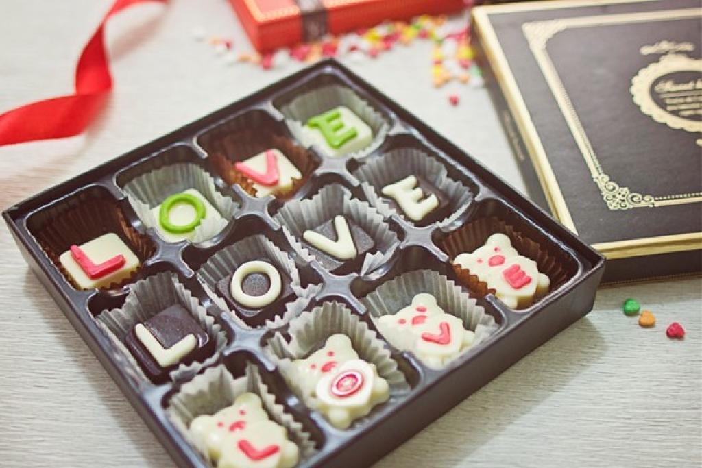 Hình ảnh Socola Valentine khăc chữ
