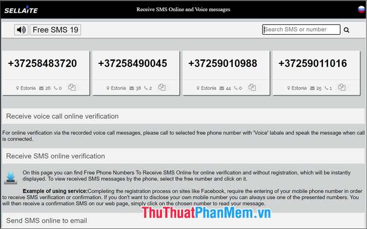 Sellaite Receive SMS Online