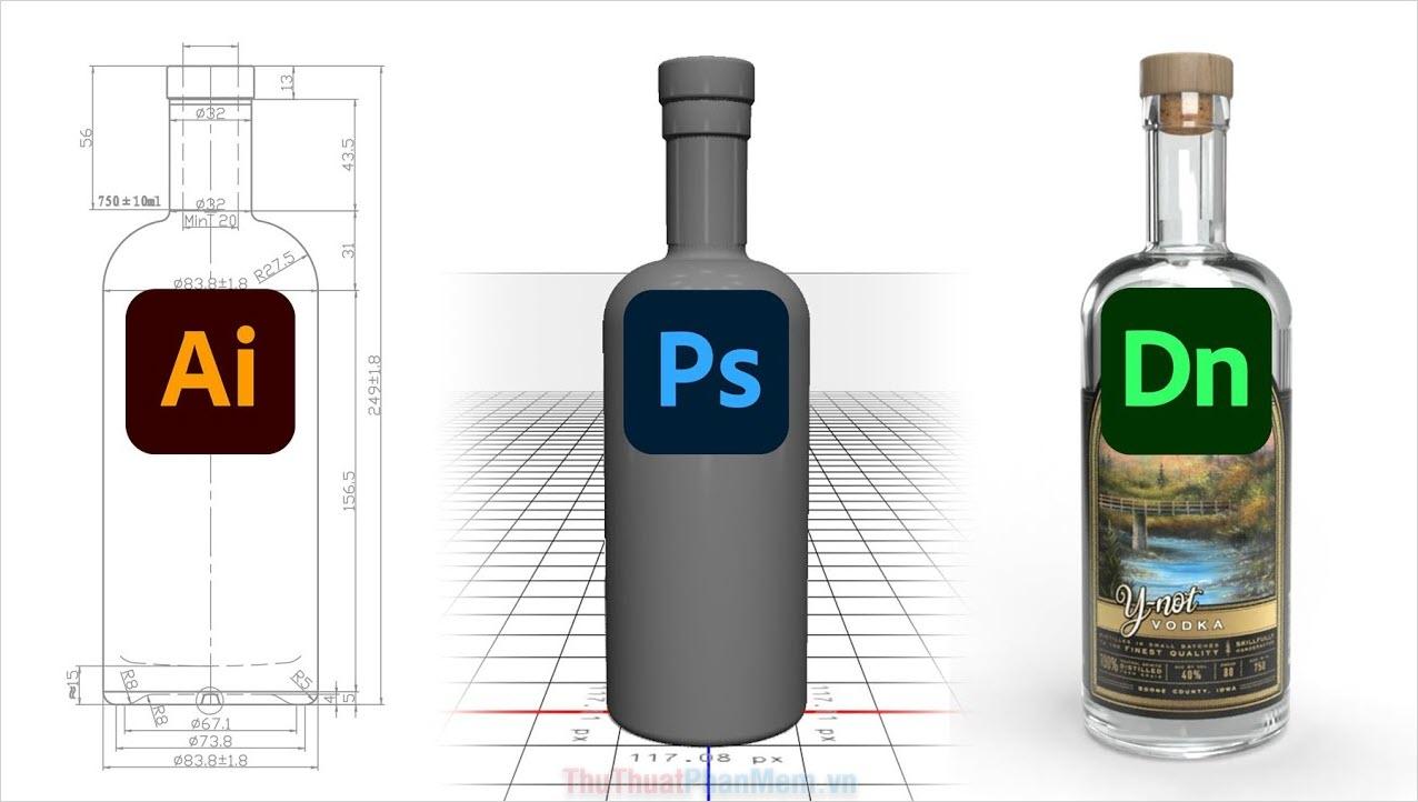 Đối với Dimension, chúng sẽ là công đoạn hậu kỳ cuối cùng cho tác phần Illustrator, Photoshop