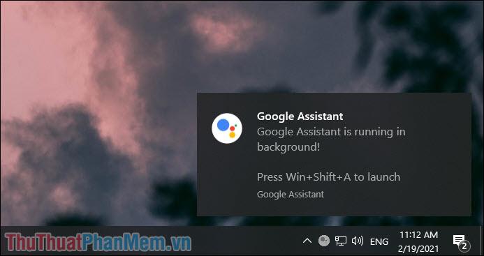 Nhấn tổ hợp Windows + Shift + A