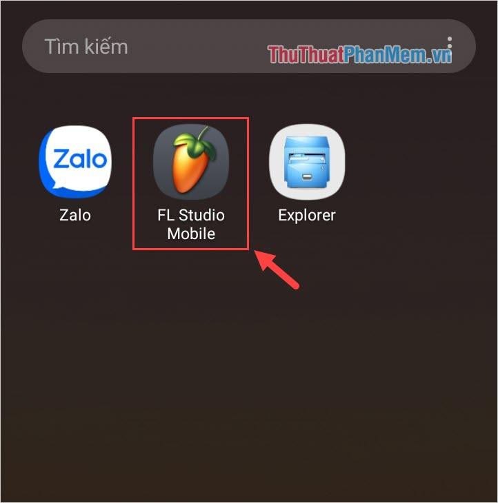 Mở ứng dụng vừa cài đặt từ file APK