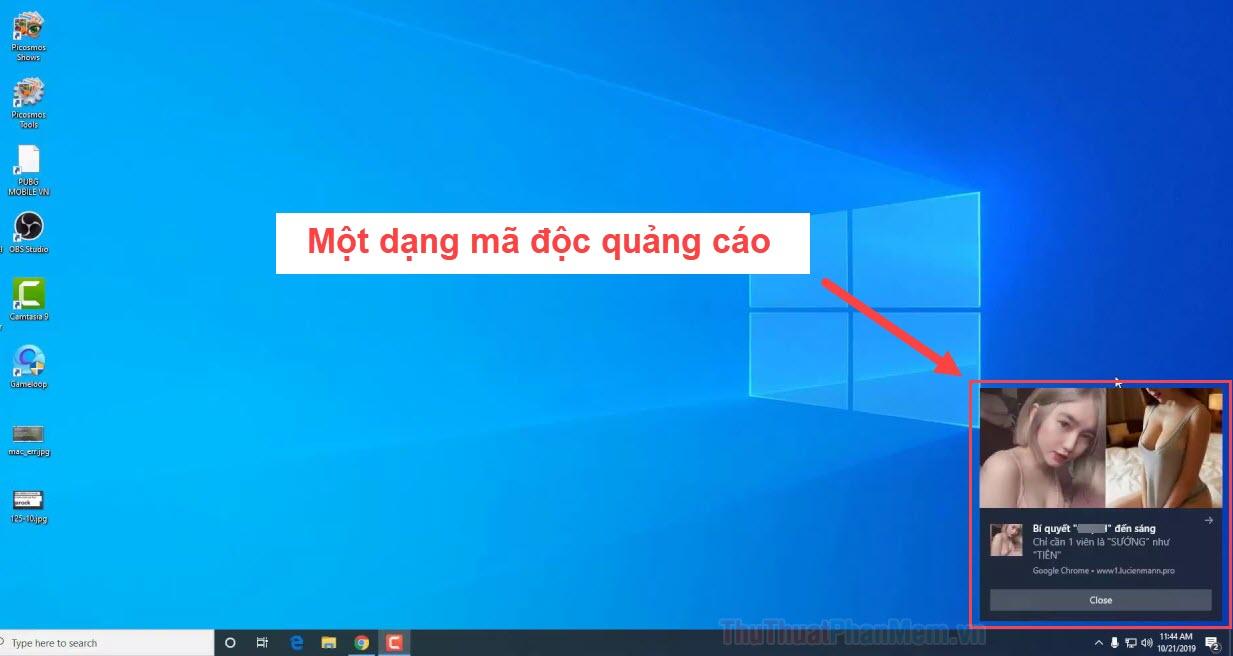 Máy tính bị dính quảng cáo