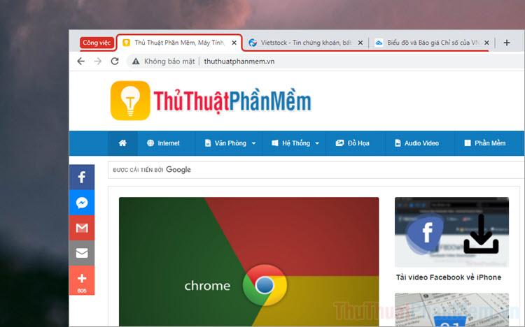 Cách bật và sử dụng tính năng nhóm Tab trên Google Chrome