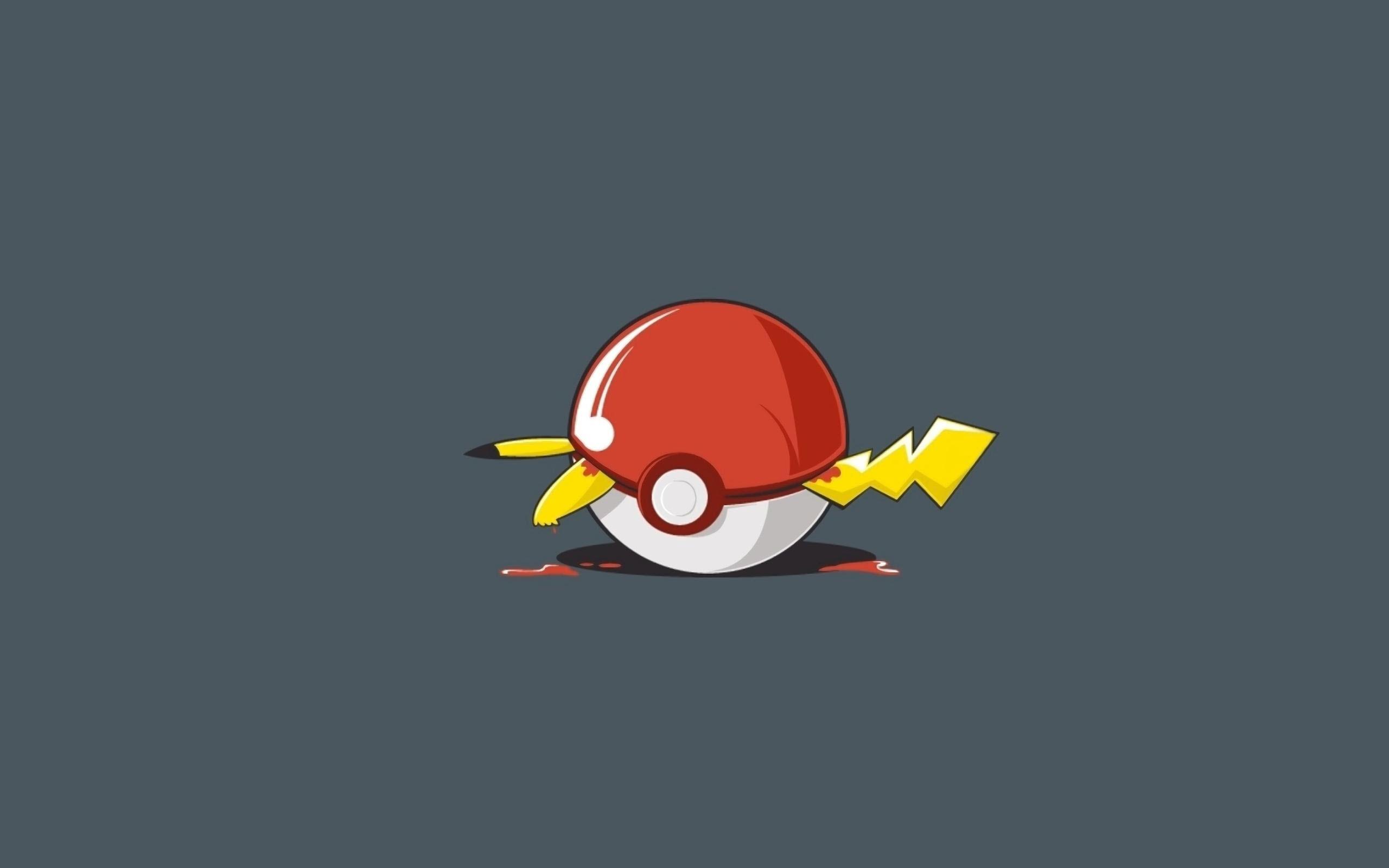 Ảnh nền Pikachu mắc kẹt trong Pokeball