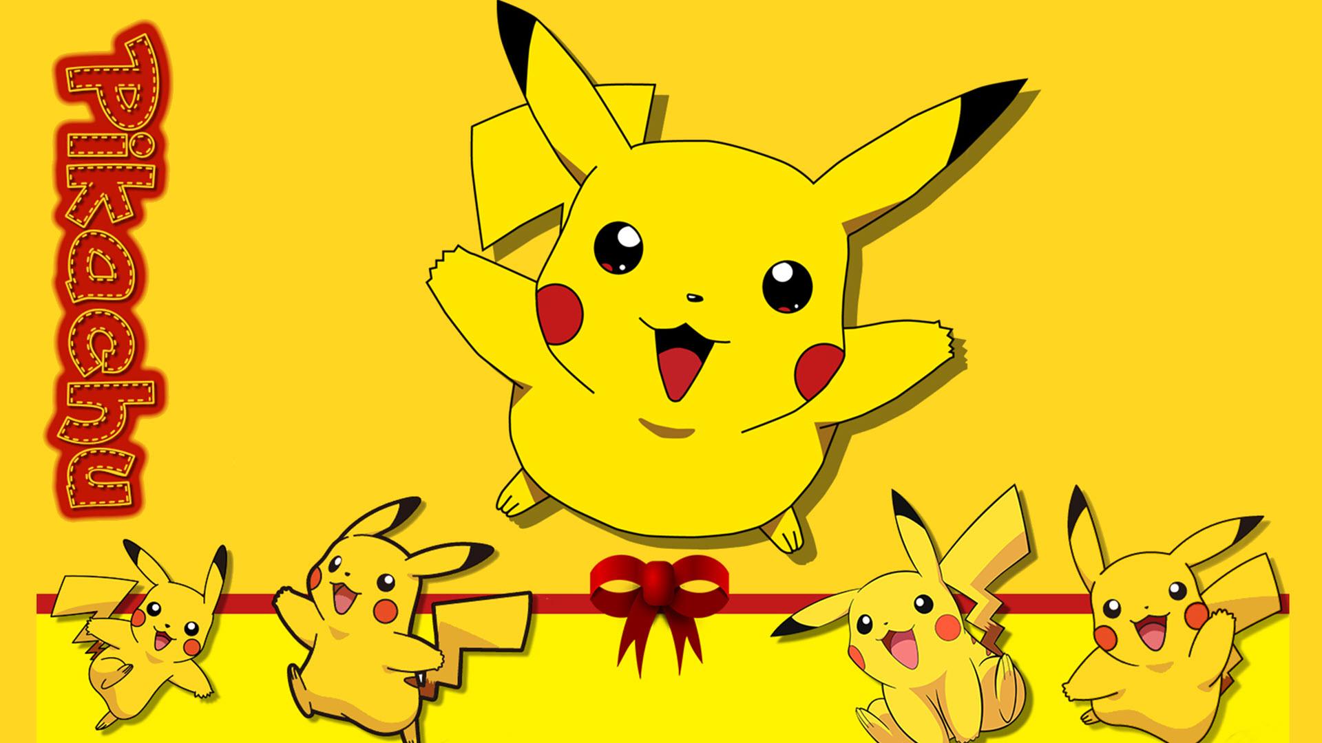 Ảnh nền Pikachu vui vẻ hài hước