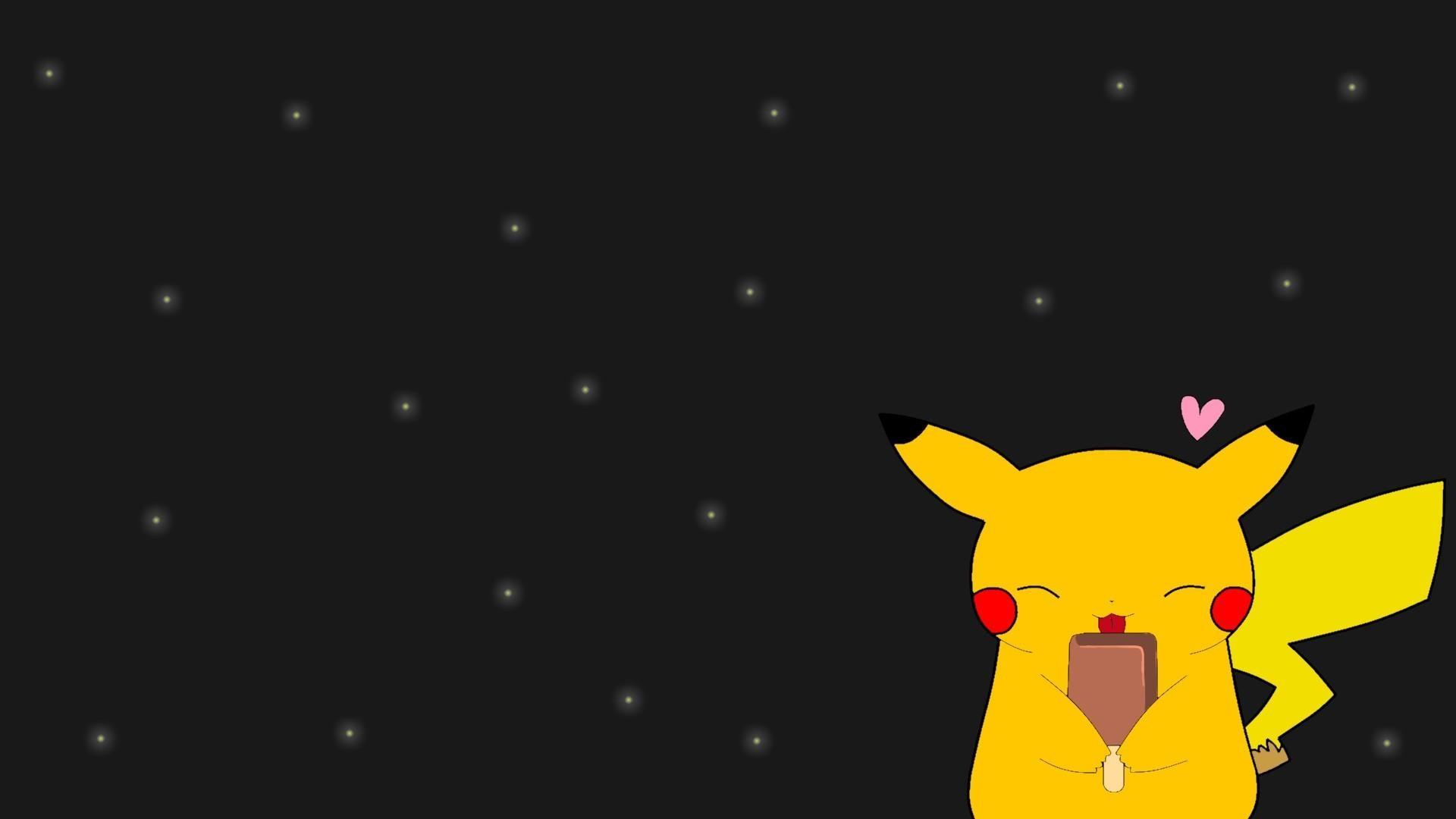Hình nền Pikachu cầm kem