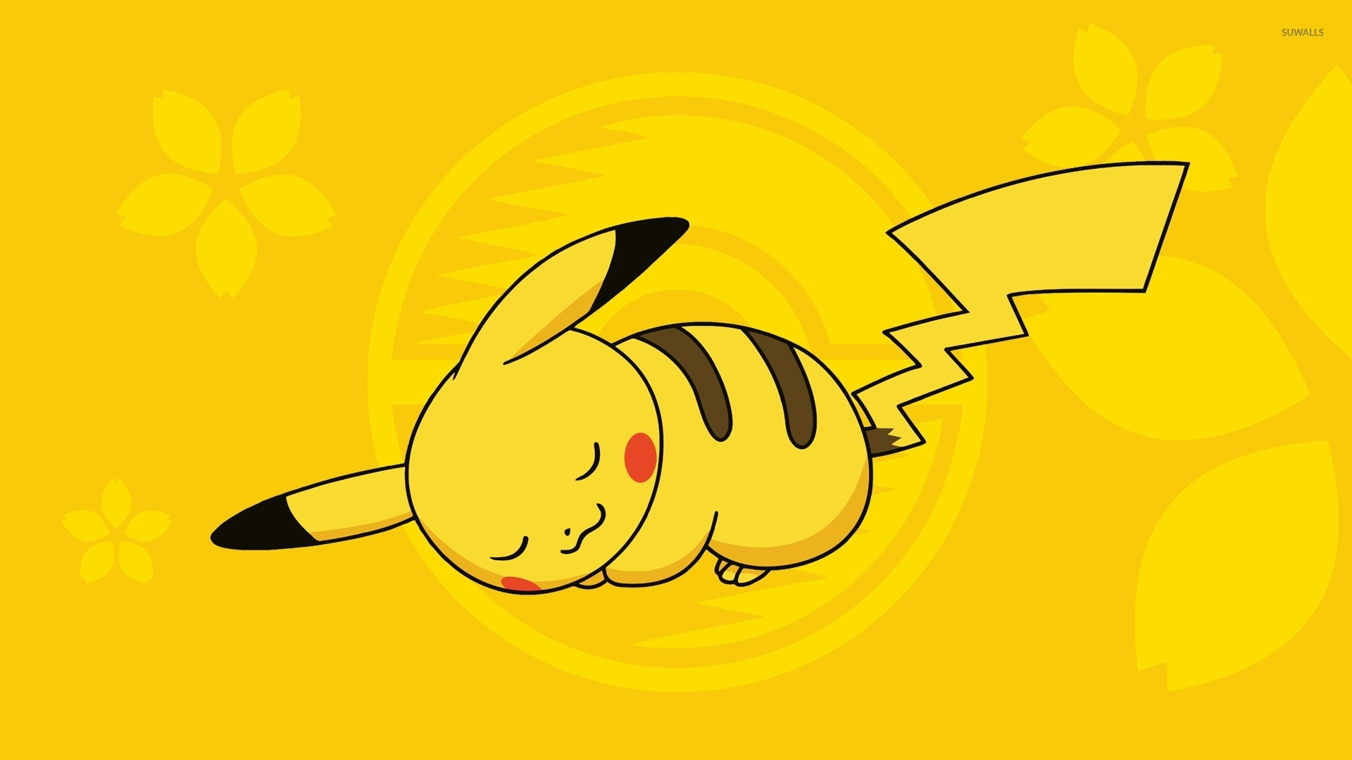 Hình nền Pikachu đang ngủ