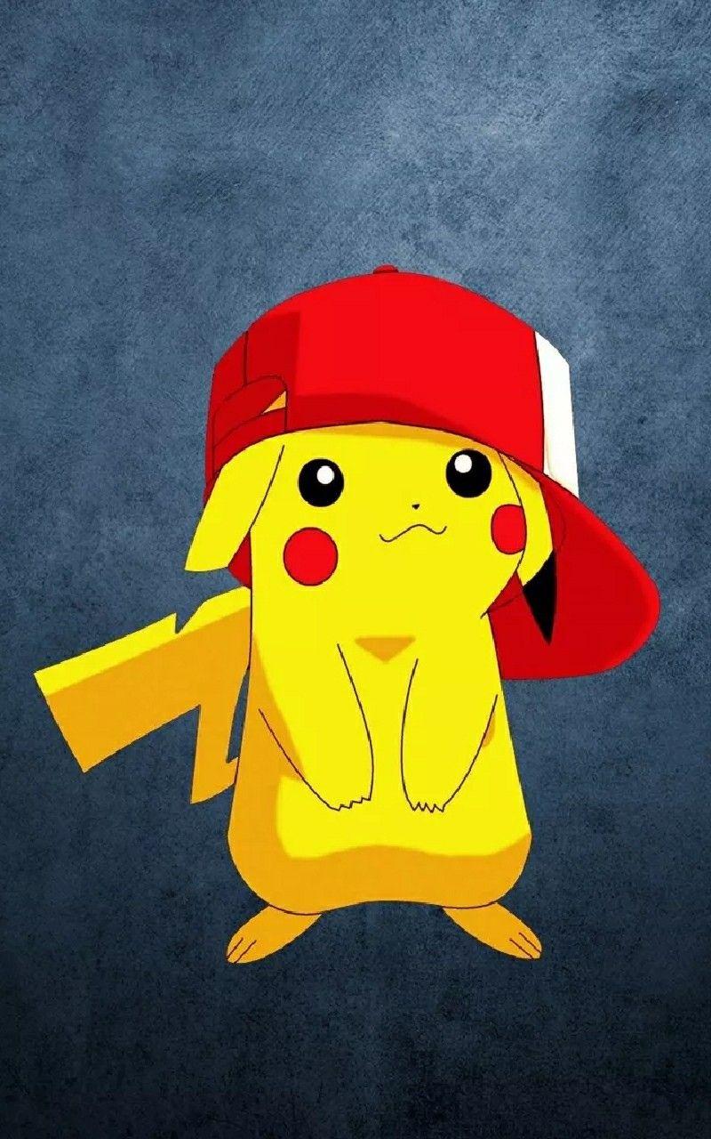 Hình nền Pikachu đội mũ cho điện thoại