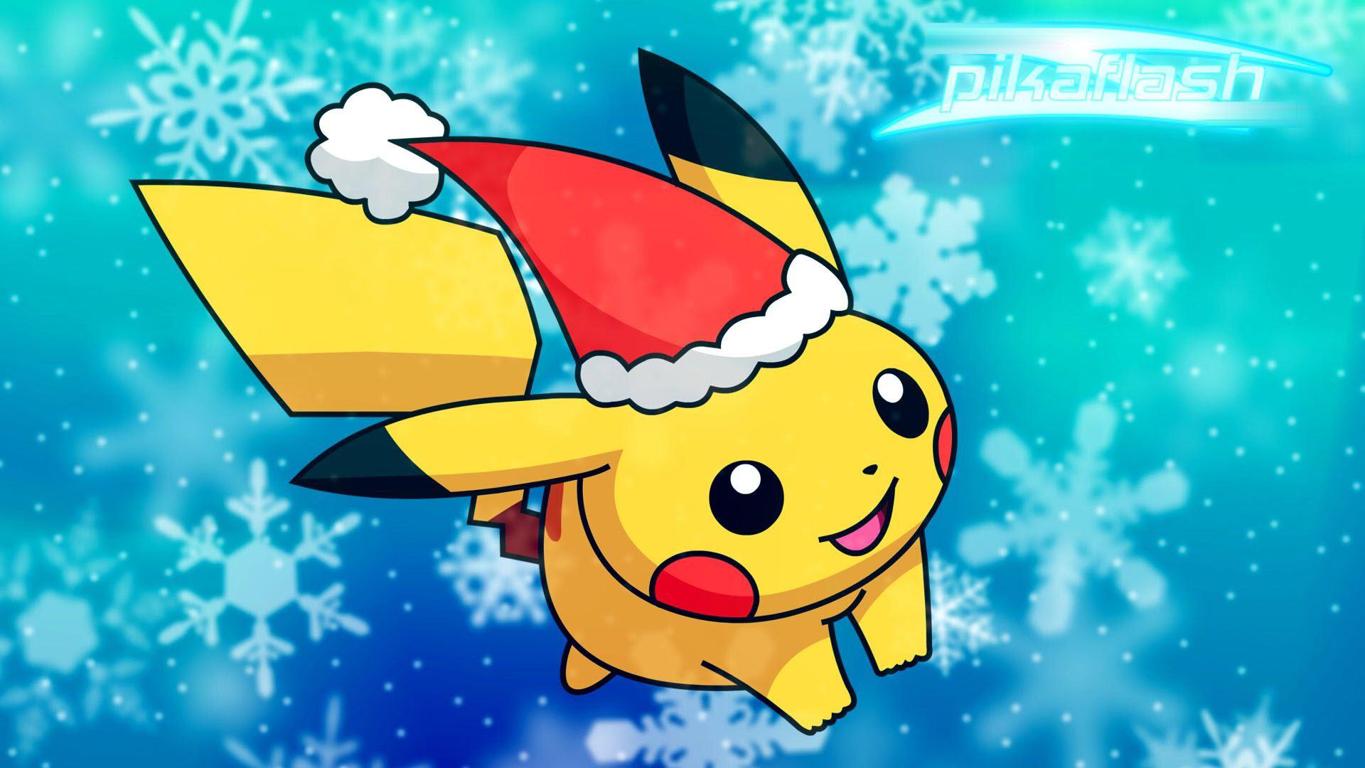 Hình nền Pikachu giáng sinh