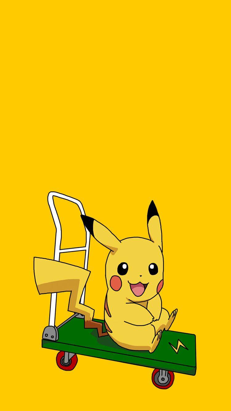 Hình nền Pikachu ngồi xe cho điện thoại
