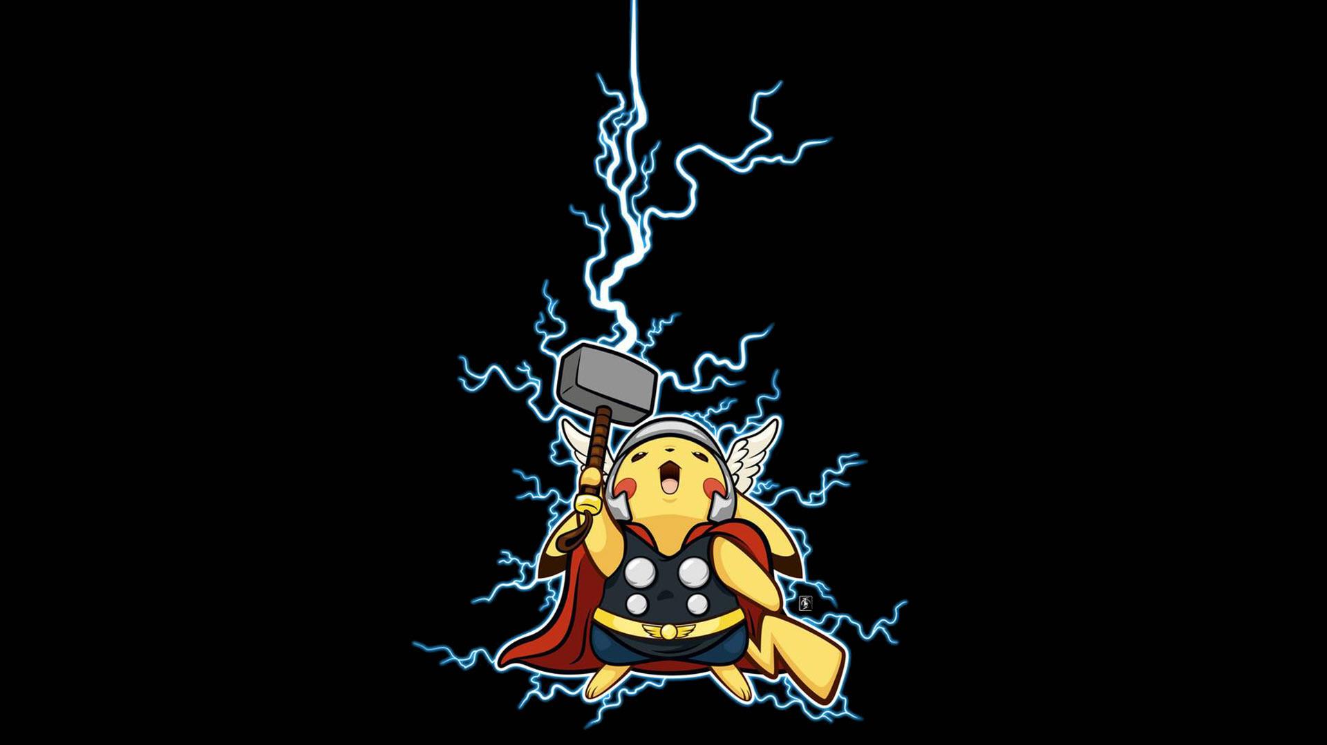 Hình nền Pikachu Thor đẹp ngầu